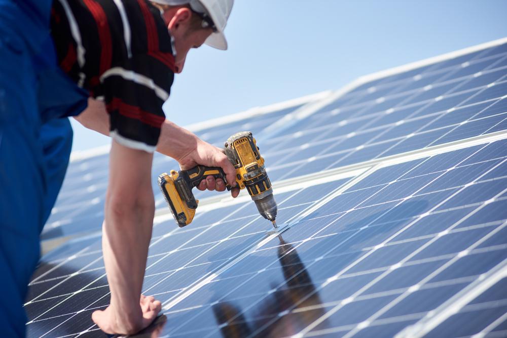 installer le panneau solaire